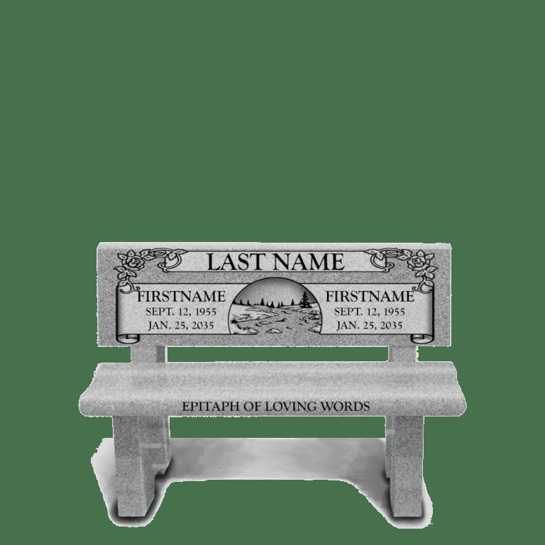 Georgia Grey Granite Headstones 7