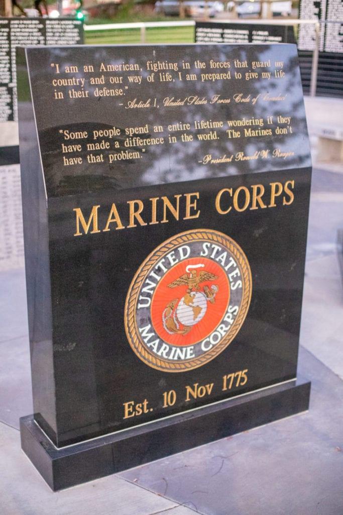 Castro Valley Veterans Memorial Carvings