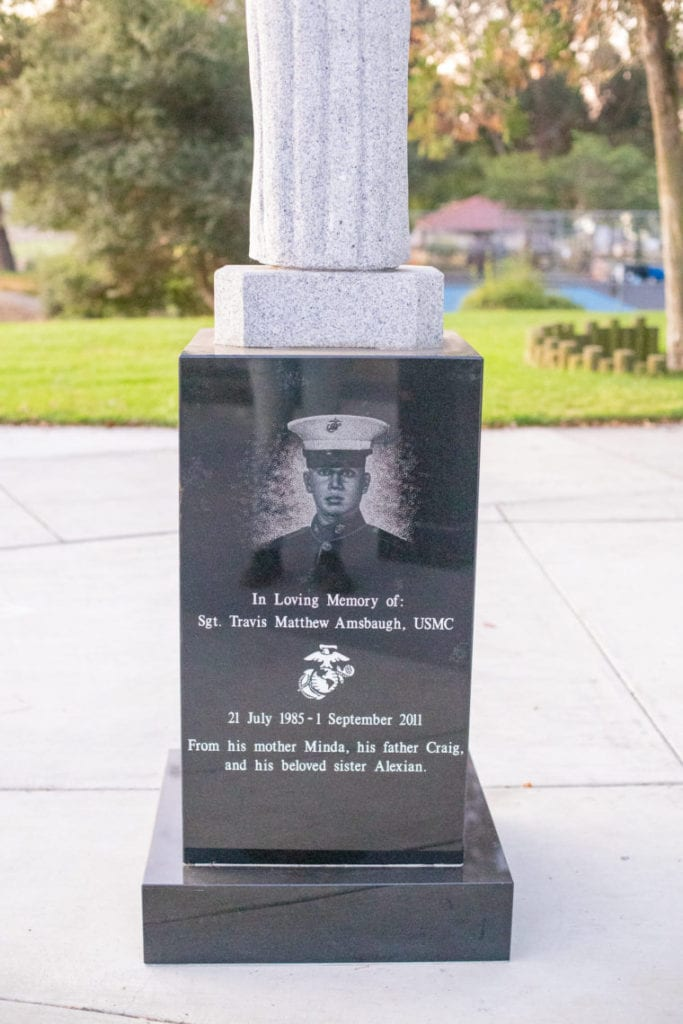 Castro Valley Veterans Memorial Carvings