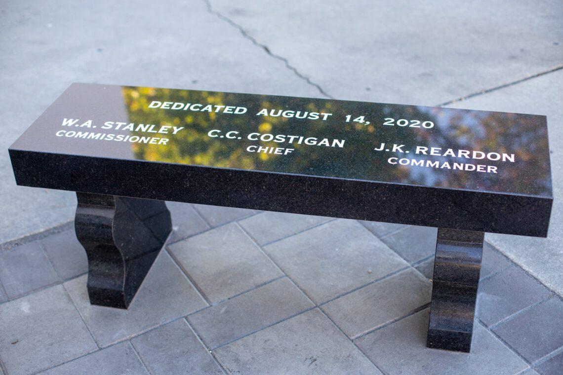 San Jose CHP Memorial Bench