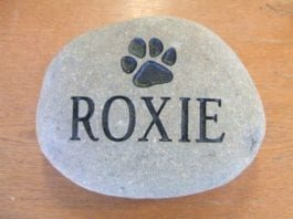 Bras & Mattos | Engraved River Rock for Dog Headstone